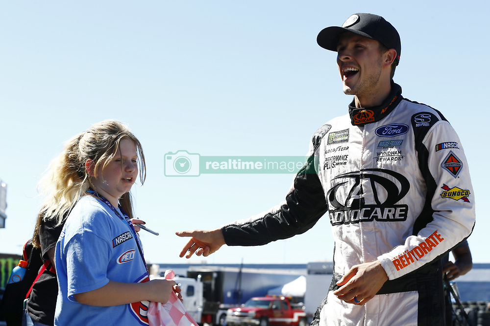 September 14, 2018 - Las Vegas, Nevada, United States of America - Trevor Bayne (6) hangs out in the garage during practice for the South Point 400 at Las Vegas Motor Speedway in Las Vegas, Nevada. (Credit Image: © Chris Owens Asp Inc/ASP via ZUMA Wire)