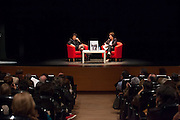 "Anne Sinclair presents her book ""21 rue de la Boetie"" at the French Institute in  Madrid with Montserrat Dominguez, Editorial Director of The Huffington Post in Spain."