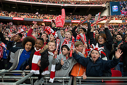 Bristol City fans celebrate - Photo mandatory by-line: Dougie Allward/JMP - Mobile: 07966 386802 - 22/03/2015 - SPORT - Football - London - Wembley Stadium - Bristol City v Walsall - Johnstone Paint Trophy Final