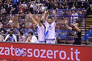 DESCRIZIONE : Milano Coppa Italia Final Eight 2014 Semifinali Banco di Sardegna Sassari Grissin Bon Reggio Emilia<br /> GIOCATORE : panchina<br /> CATEGORIA : panchina esultanza<br /> SQUADRA : Banco di Sardegna Sassari Grissin Bon Reggio Emilia<br /> EVENTO : Beko Coppa Italia Final Eight 2014<br /> GARA : Banco di Sardegna Sassari Grissin Bon Reggio Emilia<br /> DATA : 08/02/2014<br /> SPORT : Pallacanestro<br /> AUTORE : Agenzia Ciamillo-Castoria/C.De Massis<br /> Galleria : Lega Basket Final Eight Coppa Italia 2014<br /> Fotonotizia : Milano Coppa Italia Final Eight 2014 Semifinali Banco di Sardegna Sassari Grissin Bon Reggio Emilia<br /> Predefinita :