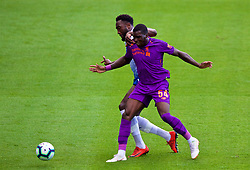BIRKENHEAD, ENGLAND - Tuesday, July 10, 2018: Liverpool's Sheyi Ojo during a preseason friendly match between Tranmere Rovers FC and Liverpool FC at Prenton Park. (Pic by Paul Greenwood/Propaganda)