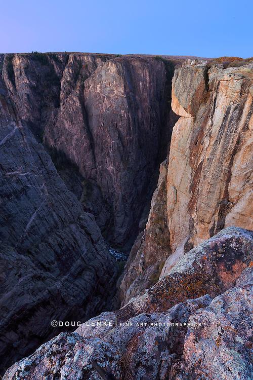The Black Canyon of the Gunnison National Park at Dawn, Colorado, USA