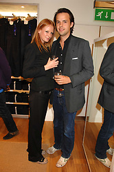 CHARLIE GILKES and OLIVIA INGE at a party to celebrate the opening of the new Uniqlo store at 331 Oxford Street, London W1 on 6th November 2007.<br />