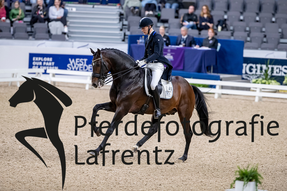ANDERSEN Daniel Bachmann (DEN), Blue Hors Zack<br /> Göteborg - Gothenburg Horse Show 2019 <br /> FEI Dressage World Cup™ Final I<br /> Int. dressage competition - Grand Prix de Dressage<br /> Longines FEI Jumping World Cup™ Final and FEI Dressage World Cup™ Final<br /> 05. April 2019<br /> © www.sportfotos-lafrentz.de/Stefan Lafrentz