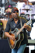 Country recording artist Darius Rucker performs at the Big Dance Concert Series during Final Four weekend in Indianapolis, Indiana.