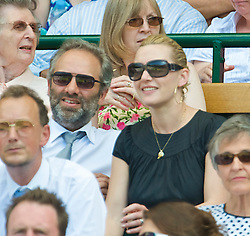 LONDON, ENGLAND - Wednesday, July 1, 2009: Actress Kate Winslet watches from the Royal Box during the Gentlemen's Singles Quarterfinal on day nine of the Wimbledon Lawn Tennis Championships at the All England Lawn Tennis and Croquet Club. (Pic by David Rawcliffe/Propaganda)