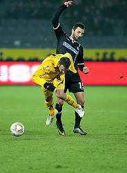 14.12.2011, UPC Arena, Graz, AUT, UEFA Europa League , Sturm Graz vs AEK Athen FC, im Bild Darko Bodul (SK Puntigamer Sturm Graz, #19) und Juan Torres Ruiz (AEK Athen FC, Defender, #6) // during UEFA Europa League football game between Sturm Graz and AEK Athens FC at UPC Arena in Graz, Austria on 14/12/2011. EXPA Pictures © 2011, PhotoCredit: EXPA/ E. Scheriau