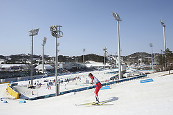 March 14, 2018 - Pyeongchang, GANGWON, SOUTH KOREA - March 14, 2018-Pyeongchang, South Korea- HUDAK Brittany of Canada action on the slope during an 2018 winter Paralympic Cross-Country Women's 1.5Km Sprint Classic,Standing at Alpensia Biathlon Center in Pyeongchang, South Korea. (Credit Image: © Gmc via ZUMA Wire)