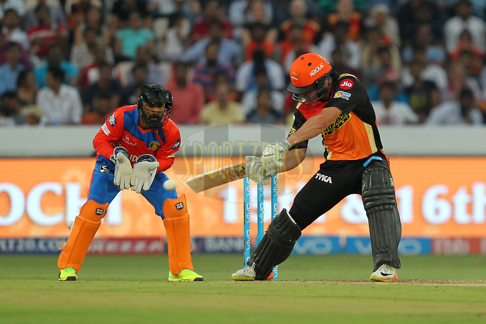 Moises Henriques of Sunrisers Hyderabad during match 6 of the Vivo 2017 Indian Premier League between the Sunrisers Hyderabad and the Gujarat Lions held at the Rajiv Gandhi International Cricket Stadium in Hyderabad, India on the 9th April 2017Photo by Prashant Bhoot - IPL - Sportzpics