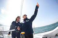10th August 2011. Cowes. Isle of Wight..Pictures of Artemis Ocean Racing, skippered by record-breaking yachtswoman Dee Caffari, with Zara Phillips and Natalie Pinkham onboard, during The Artemis Challenge round the Island race...Aberdeen Asset Management Cowes Week 2011...Credit: Lloyd Images.
