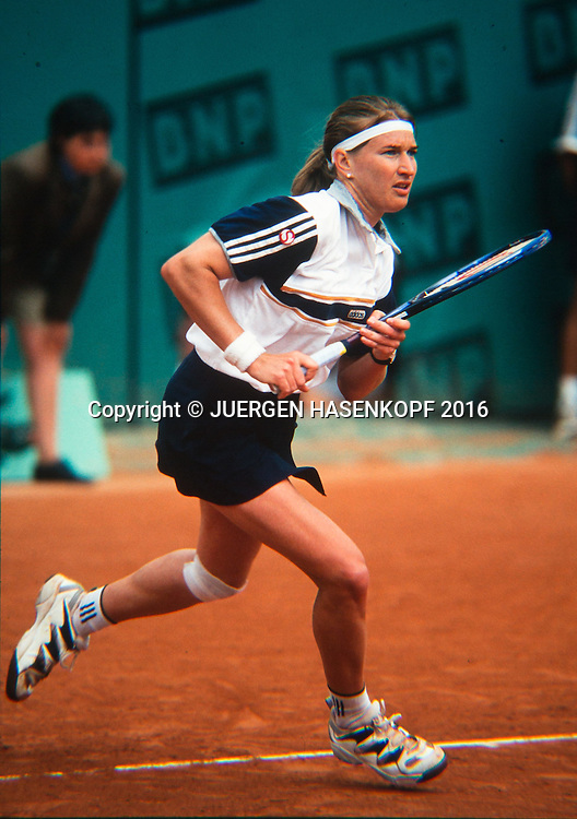 Steffi Graf (GER), Roland Garros, French Open 1997<br /> <br /> Tennis - French Open 1997 - Grand Slam ATP / WTA -  Roland Garros - Paris -  - France  - 7 December 2016.