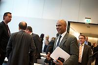 DEU, Deutschland, Germany, Berlin, 08.10.2013:<br />Der Schauspieler Charles Muhamed Huber (bekannt aus der ZDF-Serie Der Alte), der bei der Bundestagswahl 2013 f&uuml;r die CDU in den 18. deutschen Bundestag gew&auml;hlt wurde, hier vor Beginn einer Fraktionssitzung im Deutschen Bundestag.
