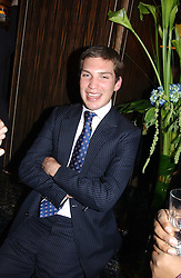 WILLIAM AITKEN at a party to celebrate the re-launch of the Polo bar at The Westbury Hotel, Bond Street, London W1 on 26th April 2005.<br />