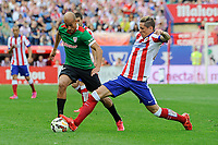 Atletico de Madrid´s Fernando Torres and Athletic Club´s Mikel Rico during 2014-15 La Liga match between Atletico de Madrid and Athletic Club at Vicente Calderon stadium in Madrid, Spain. May 02, 2015. (ALTERPHOTOS/Luis Fernandez)