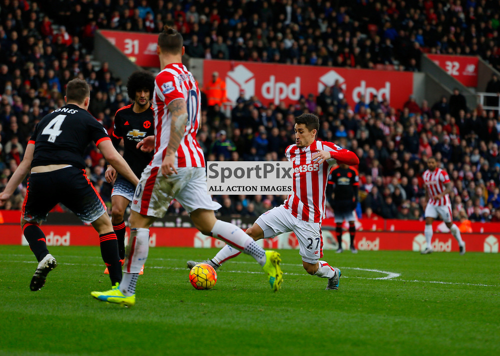 Bojan in the attack during Stoke City v Manchester United, Barclays Premier League, Saturday 26th December 2015, Britannia Stadium, Stoke