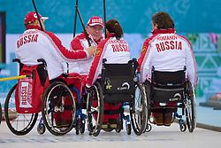 Alexander Shevchenko, Marat Romanov, Andrey Smirnov, Svetlana Pakhomova, Wheelchair Curling Semi Finals at the 2014 Sochi Winter Paralympic Games, Russia