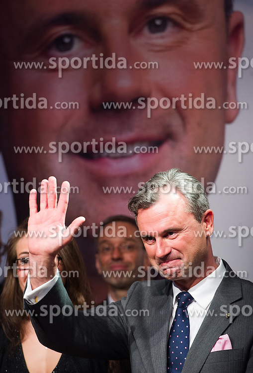 22.05.2016, Prater Alpendorf, Wien, AUT, FPÖ, Wahlfeier nach Stichwahl der Präsidentschaftswahl 2016, im Bild FPÖ-Präsidentschaftskandidat Norbert Hofer // Candidate for Presidential Elections Norbert Hofer (Austrian Freedom Party) during the after election party of the austrian freedom party due to the austrian presidential elections at Prater in Vienna, Austria on 2016/05/22, EXPA Pictures © 2016, PhotoCredit: EXPA/ Michael Gruber