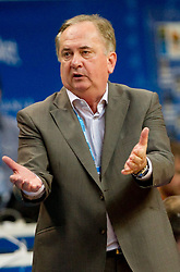 Bozidar Maljkovic, coach of Slovenia during basketball game between National basketball teams of Slovenia and Finland at FIBA Europe Eurobasket Lithuania 2011, on September 12, 2011, in Siemens Arena,  Vilnius, Lithuania.  Slovenia defeated Finland 67-60. (Photo by Vid Ponikvar / Sportida)