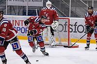 2019-12-01 | Umeå, Sweden:Teg (16) Gustav Jonsson in  HockeyEttan during the game  between Teg and Kiruna at A3 Arena ( Photo by: Michael Lundström | Swe Press Photo )<br /> <br /> Keywords: Umeå, Hockey, HockeyEttan, A3 Arena, Teg, Kiruna, mltk19120