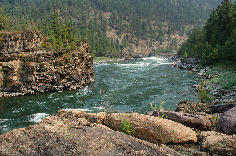 Kootenai River at Kootenai Falls in northwestern Montana.
