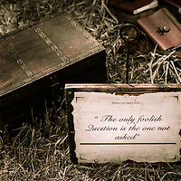 &quot;Someone once said... The only foolish question, is the one not asked.&quot; <br /> A still life at the Hillsborough Living History Event All Content is Copyright of Kathie Fife Photography. Downloading, copying and using images without permission is a violation of Copyright.