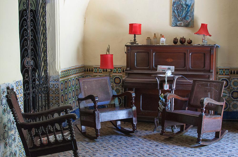 Inside a casa particular.