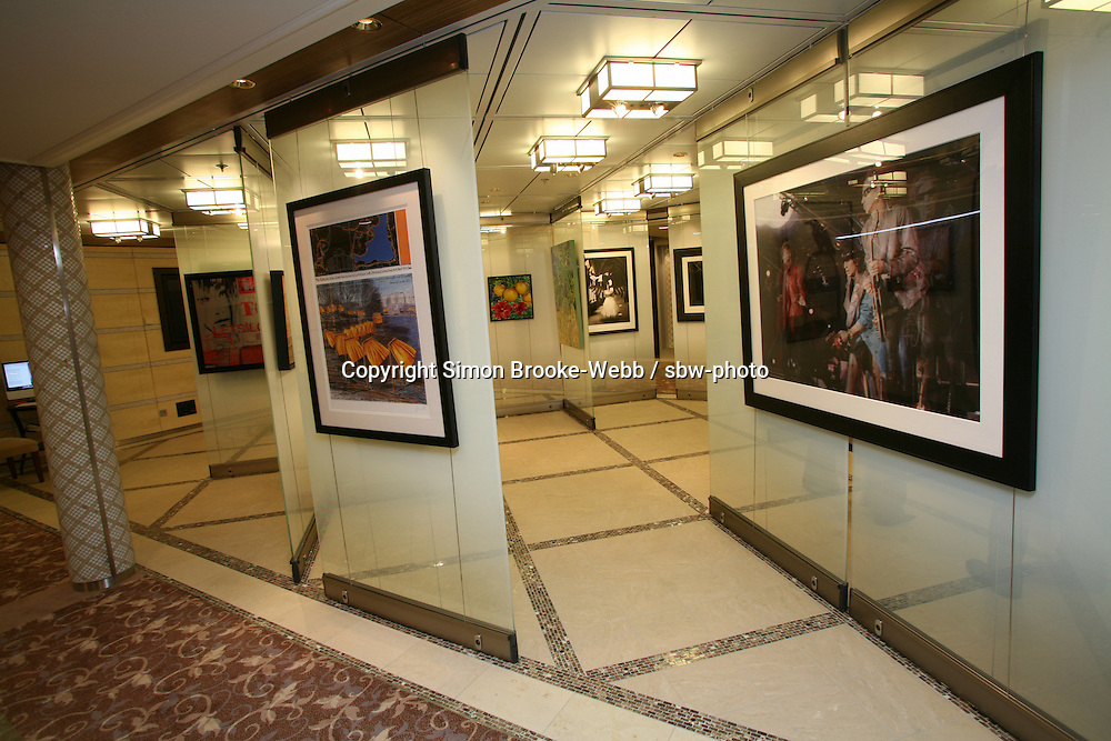 Celebrity Solstice in Hamburg..Art Gallery