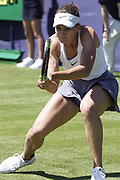 Kudermetova (RUS Vs Diyas (KAZ) Action at the Nature Valley International 2019 at Devonshire Park, Eastbourne, United Kingdom on 22 June 2019. Picture by Jonathan Dunville