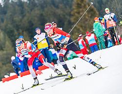 02.03.2019, Seefeld, AUT, FIS Weltmeisterschaften Ski Nordisch, Seefeld 2019, Langlauf, Damen, Massenstart 30 km, im Bild v.l. Ingvild Flugstad Oestberg (NOR), Teresa Stadlober (AUT) // f.l. Ingvild Flugstad Oestberg of Norway and Teresa Stadlober of Austria during the ladie's Mass start 30 km competition of the FIS Nordic Ski World Championships 2019. Seefeld, Austria on 2019/03/02. EXPA Pictures © 2019, PhotoCredit: EXPA/ Stefan Adelsberger
