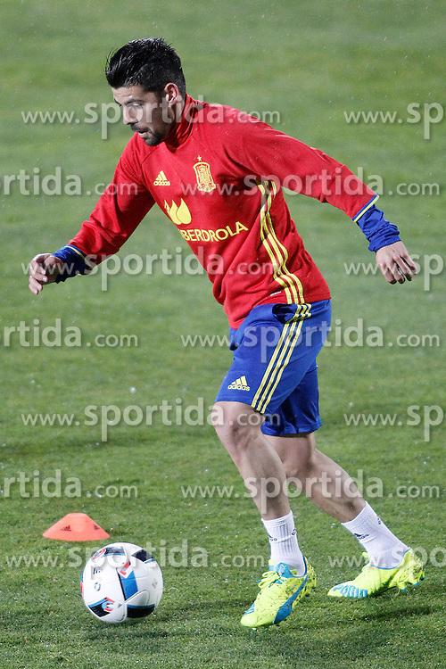 21.03.2016, Ciudad del Futbol de Las Rozas, Madrid, ESP, RFEF, Training spanische Fu&szlig;ballnationalmannschaft, im Bild Spain's Nolito // during a practice session of spanish national football Team at the Ciudad del Futbol de Las Rozas in Madrid, Spain on 2016/03/21. EXPA Pictures &copy; 2016, PhotoCredit: EXPA/ Alterphotos/ Acero<br /> <br /> *****ATTENTION - OUT of ESP, SUI*****