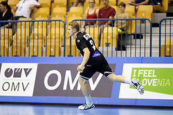 Dimitri Ignatow of Germany celebrates goal during handball match between National teams of Germany and France in Semifinal of 2018 EHF U20 Men's European Championship, on July 25, 2018 in Arena Zlatorog, Celje, Slovenia. Photo by Urban Urbanc / Sportida