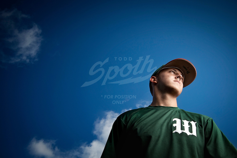 Portraits of Canadian American professional baseball pitcher, Jameson Taillon, during his senior year as a varsity pitcher for The Woodlands High School in The Woodlands, Texas. Taillon was drafted second overall by the Pittsburgh Pirates in the 2010 MLB draft.
