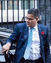London, November 06 2017. Housing Minister Alok Sharma MP in Downing Street visiting the Prime Minister's official residence at No. 10. © Paul Davey