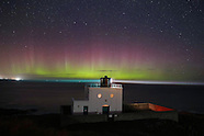 Northumberland - Aurora Borealis Appears In The Sky Over Bamburgh Lighthouse - 28 Sep 2016