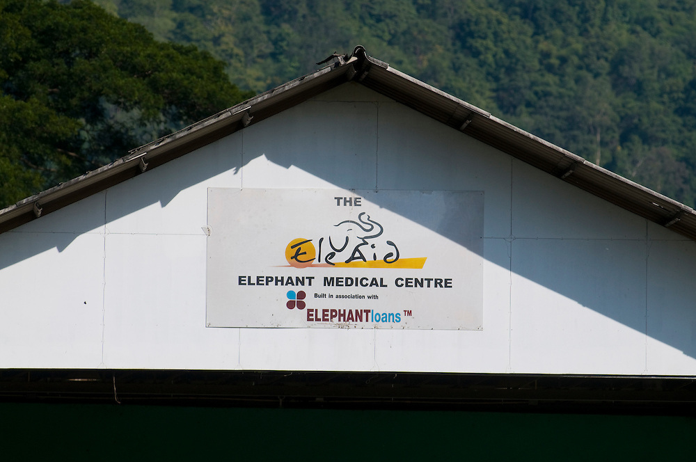 "The Elephant Medical Center at the Elephant Nature Park near Chiang Mai, Thailand.  Sangduen ""Lek"" Chailert founded the park as a sanctuary and rescue centre for elephants.  The park currently has 32 elephants sponsored and supported by volunteers from all over the world."