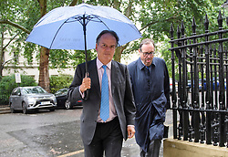 © Licensed to London News Pictures. London, UK. Foreign Office Minister MARK FIELD pictured arriving at a launch event for Jeremy Hunt's Conservative party Leadership campaign in Westminster, London on June 10, 2019. Field has been suspended from his ministerial role after he forcibly ejected a Greenpeace protestor from an event hosted by the Chancellor, Philip Hammond, last night.. Photo credit: Ben Cawthra/LNP