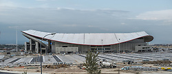 August 29, 2017 - Madrid, Spain - Finalization of the works of the Wanda Metropolitano Stadium. Is a multipurpose stadium located in Madrid. Owned by Club Atlético de Madrid. August 30, 2017  (Credit Image: © Oscar Gonzalez/NurPhoto via ZUMA Press)