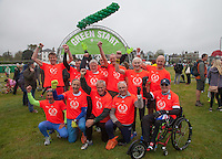 "Group photo of the ""Ever Presents - runners who have competed in every London Marathon for 35 years. Photographed at the start of the Virgin Money London Marathon 2015, Sunday 26th April 2015<br /> <br /> Roger Allen for Virgin Money London Marathon<br /> <br /> For more information please contact Penny Dain at pennyd@london-marathon.co.uk"