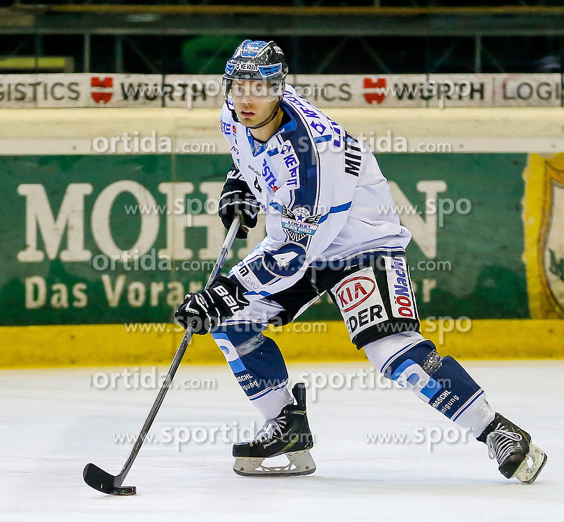 21.11.2014, Messestadion, Dornbirn, AUT, EBEL, Dornbirner EC vs EHC Liwest Black Wings Linz, 19. Runde, im Bild Daniel Mitterdorfer, (EHC Liwest Black Wings Linz, #04)// during the Erste Bank Icehockey League 19th round match between Dornbirner EC and EHC Liwest Black Wings Linz at the Messestadion in Dornbirn, Austria on 2014/11/21, EXPA Pictures © 2014, PhotoCredit: EXPA/ Peter Rinderer