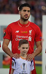 BASEL, SWITZERLAND - Wednesday, May 18, 2016: Liverpool's Emre Can lines-up before the UEFA Europa League Final against Sevilla at St. Jakob-Park. (Pic by David Rawcliffe/Propaganda)