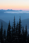 Olympic Range after Sunset, Olympic National Park, Washington
