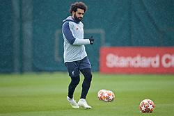 LIVERPOOL, ENGLAND - Tuesday, April 16, 2019: Liverpool's Mohamed Salah during a training session at Melwood Training Ground ahead of the UEFA Champions League Quarter-Final 2nd Leg match between FC Porto and Liverpool FC. (Pic by Laura Malkin/Propaganda)