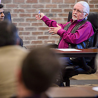 Gallup mayor Jackie McKinney makes comments during a special meeting at the El Morro Event Center in Gallup Friday.