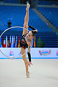 Ashirbayeva Sabina during qualifying hoop in Pesaro World Cup 10 April 2015.<br />