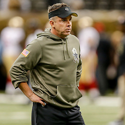 Nov 9, 2014; New Orleans, LA, USA; New Orleans Saints head coach Sean Payton before a game against the San Francisco 49ers at Mercedes-Benz Superdome. Mandatory Credit: Derick E. Hingle-USA TODAY Sports