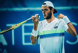 Matteo Berrettini (ITA) during Final match of ATP Challenger Zavarovalnica Sava Slovenia Open 2017, on August 12, 2017 in Sports centre, Portoroz/Portorose, Slovenia. Photo by Vid Ponikvar / Sportida