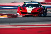May 4-6, 2017: IMSA Sportscar Showdown at Circuit of the Americas. 63 Christina Nielsen, Alessandro Balzan, Scuderia Corsa, Ferrari 488 GT3