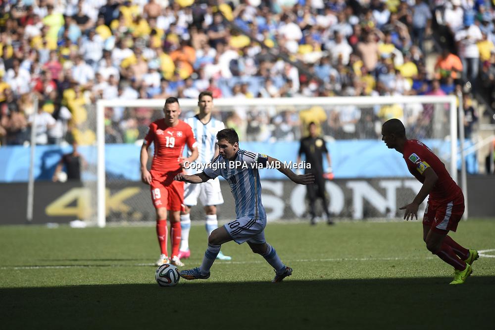 Lionel Messi. Argentina v Switzerland, round of 16. FIFA World Cup 2014 Brazil. Arena de Sao Paulo, Sao Paulo. 01 July 2014