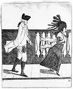 James Graham, Scottish quack doctor, 1795. Graham (1745-1794) set up the Temple of Health in The Adelphi, London. He used milk baths, friction, electricity and magnetism in the treatments he offered. A practising vegetarian, Graham is shown here in his usual white linen clothes and black silk stockings.