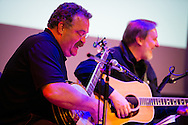 LCMS President Matthew C. Harrison (left) joins the band 'Old School' for a concert at the Stadthaus on Saturday, May 2, 2015, in Wittenberg, Germany. Fellow band member the Rev. Russell Tkac, pastor at Peace Lutheran Church, Waterford, Mich., joins him. LCMS Communications/Erik M. Lunsford
